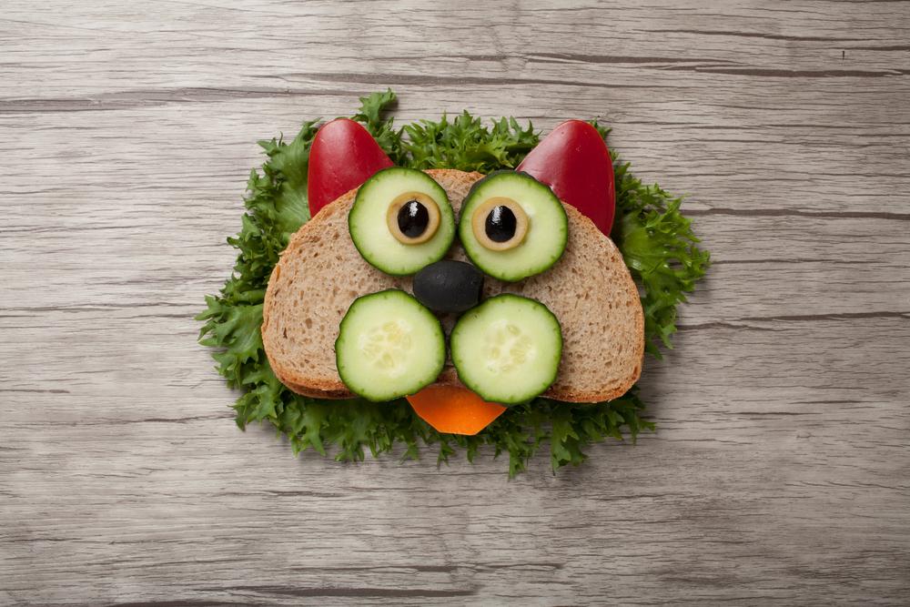 Lancheira Saudável Para Escola: sanduíche divertido.