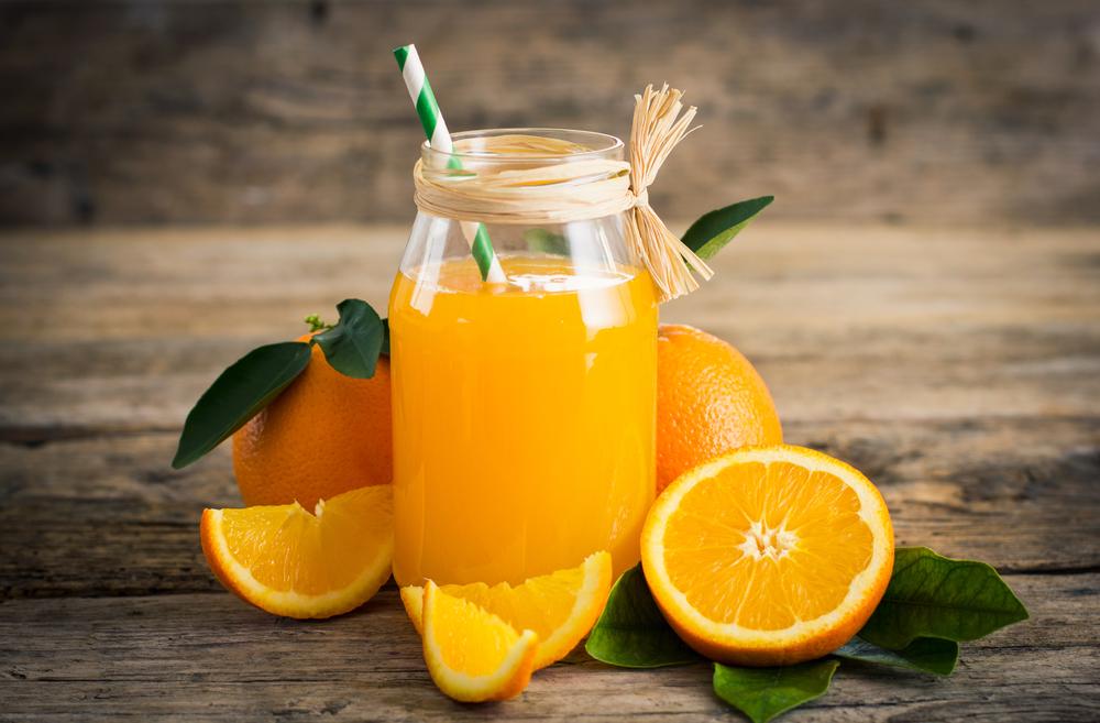 alimentação saudável: suco de laranja