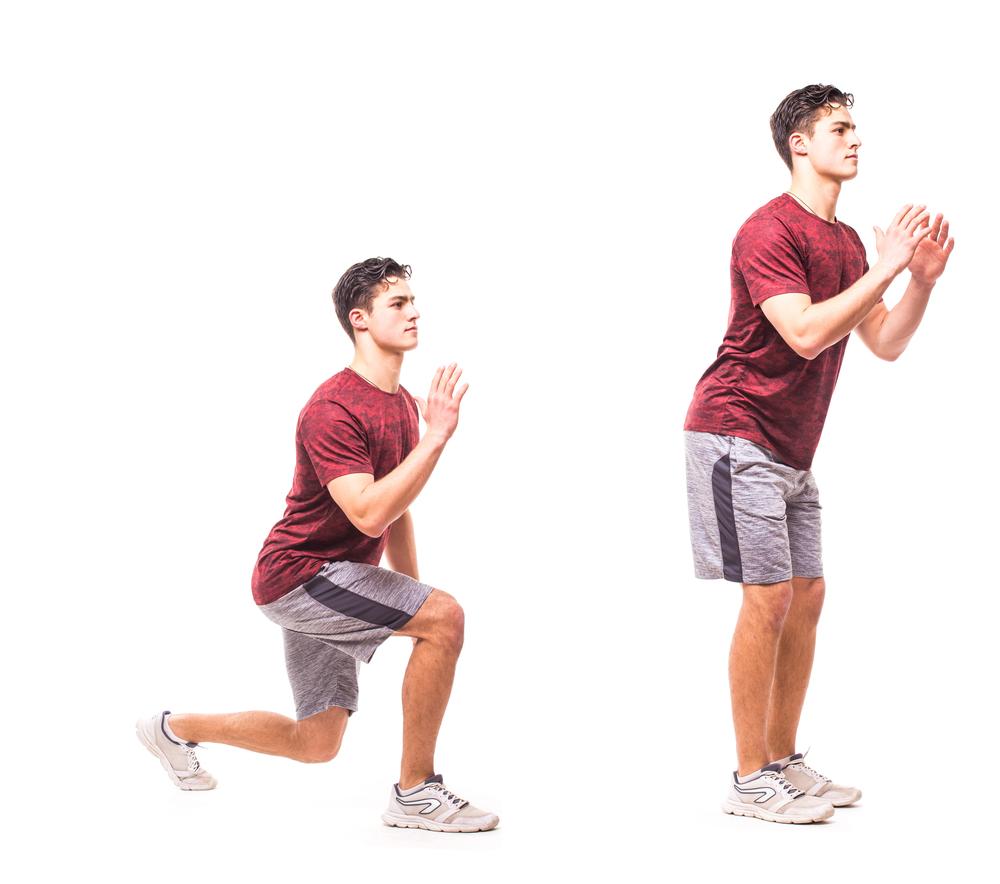 Exercícios físicos para fazer em casa: afundos