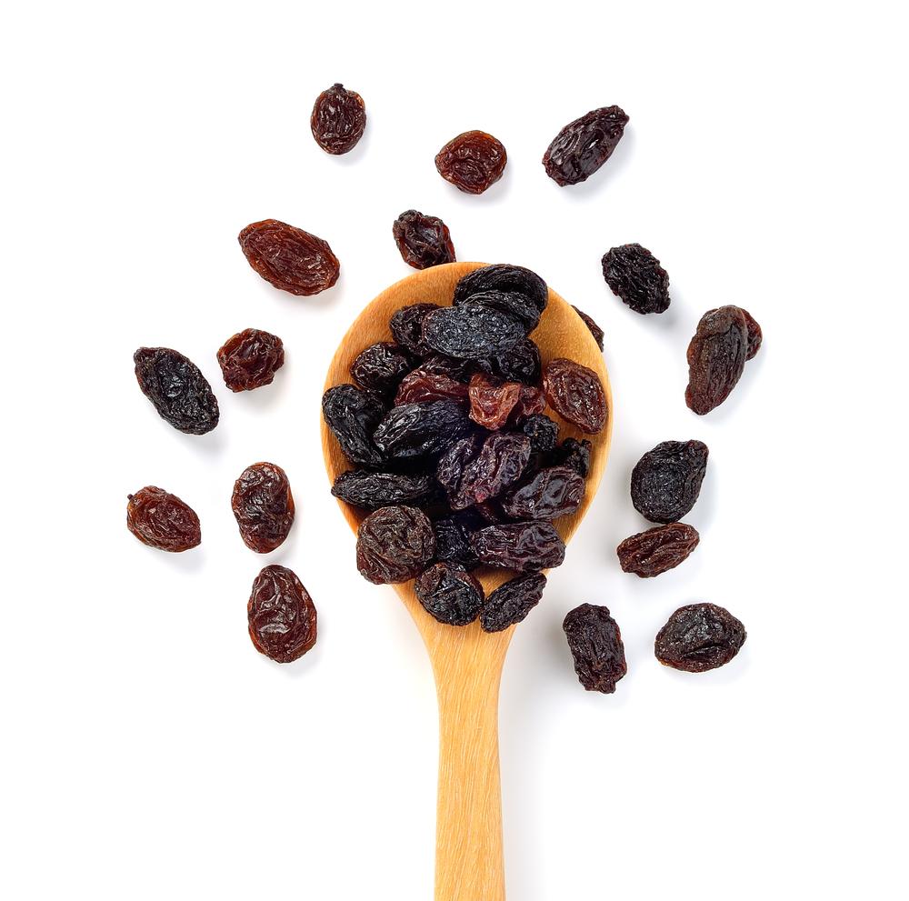 Frutas desidratadas: uva passa