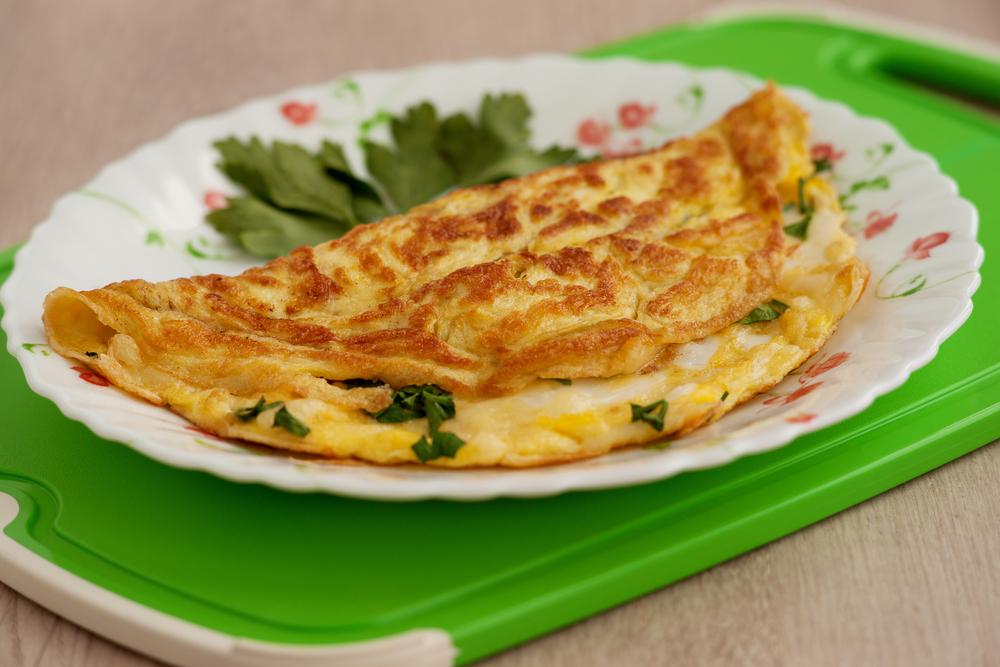 omelete saudável e nutritivo